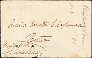 Letter from Elizabeth Pease Nichol to Maria Weston Chapman, 1841 Jan[uary] 5