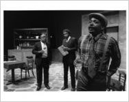 "Scene from ""Riffs,"" a comedy by Bill Harris, 7 Stages Theatre, Atlanta, Georgia, between November 1 - December 17, 1995"