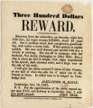 Three hundred dollars reward