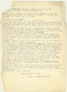 Meeting Minutes of the Executive Committee of the NAACP
