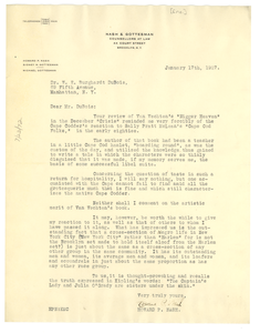 Letter from Howard P. Nash to Editor of the Crisis