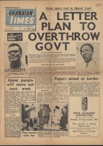 Ghanaian times vol. VI no. 1,704