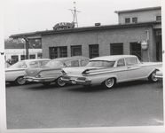 Mississippi State Sovereignty Commission photograph of automobiles parked on the side of Stanely's Cafe, Winona, Mississippi, 1961 November 1