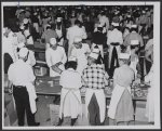 Volunteer workers at the Riverside Church here prepared box lunches for marchers. Eighty-thousand lunches were shipped to Washington in refrigerator trucks