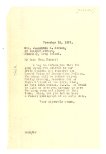 Letter from W. E. B. Du Bois to Jeannette L. Norman