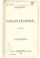 Report on colonization for 1863 to the state board