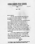Letter: Monteagle, Tennessee, to James Dombrowski, 1961 June 11
