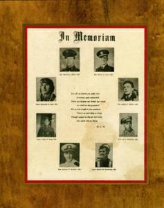 Plaque to fallen Springfield College Graduates in World War II