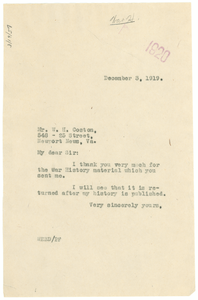 Letter from W. E. B. Du Bois to William Hilary Coston