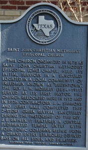 [Texas Historical Commission Marker: Saint John Christian Methodist Episcopal Church]