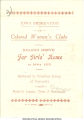 Pamphlet advertising fund raising drive for dormitory for African American women students