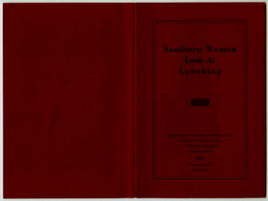 Southern Women Look at Lynching