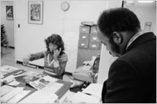 John Lewis and staff person, circa 1973