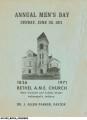 Bethel A.M.E. Church Men's Day Journals, 1970s