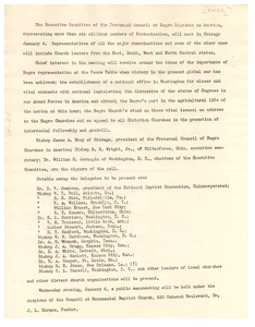 Circular letter from Fraternal Council of Negro Churches in America