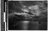 Sunset on Inland Sea, Japan, ca. 1915