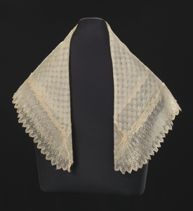 Silk lace and linen shawl given to Harriet Tubman by Queen Victoria