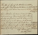 Creek Agency statement of Mitchell's account, 1820