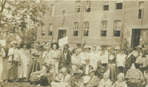 Class of 1913 members in costumes and makeup