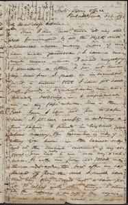 Thumbnail for Letter from James Miller M'Kim, Philadelphia, [Pennsylvania], to Mary Anne Estlin, 1853 Oct[ober] 18