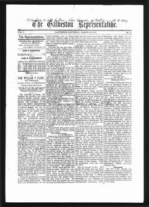 The Galveston Representative. (Galveston, Tex.), Vol. 1, No. 16, Ed. 1 Saturday, March 23, 1872 The Representative