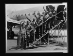 Seven New York and New Jersey servicemen were among 16 members of the famed 99th Pursuit Squadron, first all-negro combat unit activated as a part of the 15th Air Force in Italy, when the group arrived at LaGuardia Field Friday afternoon aboard a trans-Atlantic Air Transport Command plane from Casablanca, North Africa
