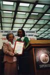 Yvonne Brathwaite Burke Presents Award to Margaret Williams
