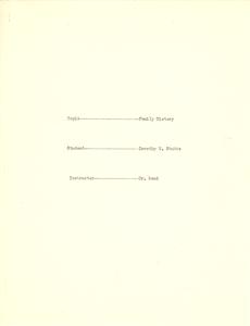 Student family histories: Stubbs, Dorothy Glover (Jackson)