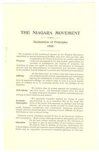 Niagara Movement declaration of principles