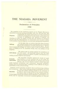 Niagara Movement declaration of principles