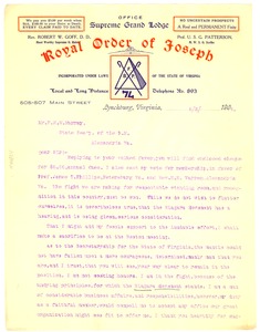 Letter from Robert W. Goff to F. H. M. Murray