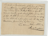 Thumbnail for Bill of sale from Jas. B. Campbell to Hugh Bell for a slave named Martha. June 3, 1828.