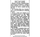 """Iowa City notes: Misses Iva McClain, Elizabeth Gross, Naomi Harper,"" April 13, 1917"