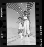 """Jocelyn Banks and Fred Camble on """"Soul Train"""" television program, Calif., 1975"""