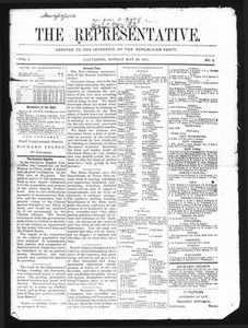 The Representative. (Galveston, Tex.), Vol. 1, No. 2, Ed. 1 Monday, May 29, 1871 The Representative