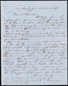 Letter from Richard Plumer, Newburyport, [Mass.], to William Lloyd Garrison, Oct[ober] 26th 1851