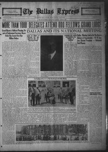 The Dallas Express (Dallas, Tex.), Vol. 31, No. 37, Ed. 1 Saturday, August 9, 1924 The Dallas Express