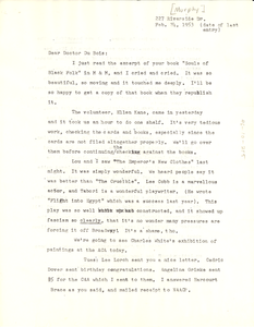Letter from Lillian Murphy to W. E. B. Du Bois