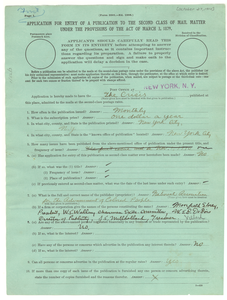 Crisis Magazine Application for Second Class Mail Status