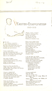 Easter emancipation: 1863-1913