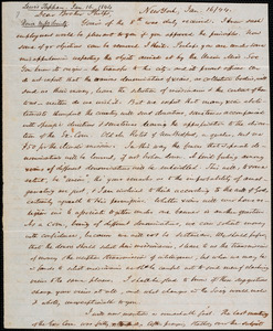 Letter from Lewis Tappan, New York, to Amos Augustus Phelps, 1844 January 16