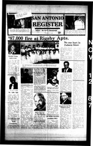 San Antonio Register (San Antonio, Tex.), Vol. 56, No. 32, Ed. 1 Thursday, November 12, 1987 San Antonio Register