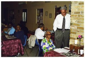 [Mario Salas Campaigning at Claude Black Community Center] Mario Marcel Salas Papers