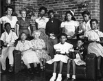 Mae Reese Johnson with children