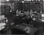 Enoch Pratt Free Library Branch number 11 (interior), number 6 South Central Avenue, Baltimore, Maryland, circa 1940