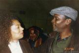 Terry McMillan and Sekou Sundiata talking together