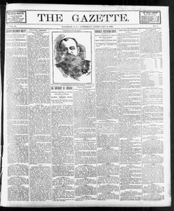 The Gazette. (Raleigh, N.C.), Vol. 10, No. 1, Ed. 1 Saturday, February 19, 1898 The Gazette The Weekly Gazette