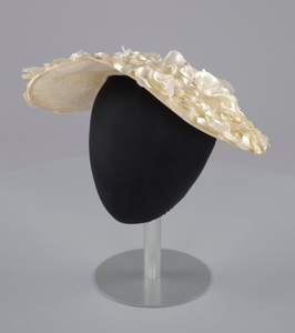 Cream sun hat with flowers from Mae's Millinery Shop
