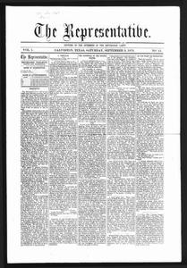 The Representative. (Galveston, Tex.), Vol. 1, No. 15, Ed. 1 Saturday, September 9, 1871 The Representative