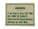 """Woman Suffrage """"Answer"""" Banner"""